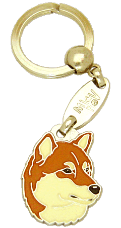 Shiba inu - pet ID tag, dog ID tags, pet tags, personalized pet tags MjavHov - engraved pet tags online