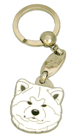 Akita inu branco - pet ID tag, dog ID tags, pet tags, personalized pet tags MjavHov - engraved pet tags online