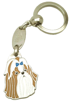 Shih tzu marrom azul - pet ID tag, dog ID tags, pet tags, personalized pet tags MjavHov - engraved pet tags online