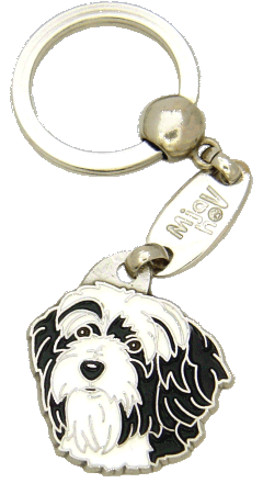 Terrier tibetano  preto e branco - pet ID tag, dog ID tags, pet tags, personalized pet tags MjavHov - engraved pet tags online