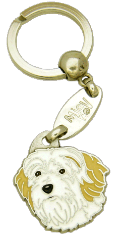 Terrier tibetano branco e creme - pet ID tag, dog ID tags, pet tags, personalized pet tags MjavHov - engraved pet tags online